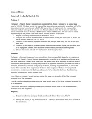 Lease problems-hw1
