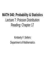 MATH 040 Lecture 7.ppt