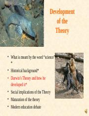 BIOII-4a-How Did Darwin Develop His Theory.ppt