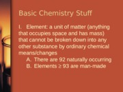 Chapter 2a - Basic Chemistry