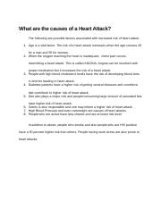 What are the causes of a Heart Attack.docx