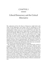 Liberal Democracy & Critical Alternatives