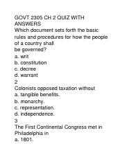 GOVT 2305 CH 2 QUIZ WITH ANSWERS.docx