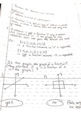 math 125 function notes