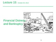 Lecture 15_Financial Distress and Banktruptcy