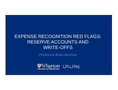 6.Video-2.5-Expense-Recognition-Red-Flags-Reserve-Accounts-and-Write-offs