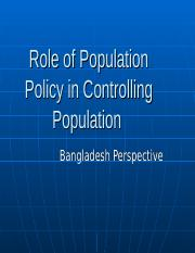 Role of Population Policy in Controlling Population-2016.ppt