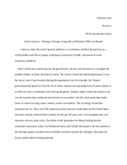 Article analysis 2