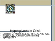 Hyperglycemic Crisis No Notes 021913