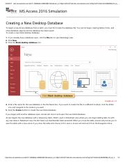 2 - Creating a New Desktop Database