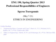 E-190, S2013, Lectures 1 and 2