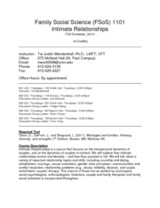 FSoS 1101 - Intimate Relationships - Fall 2013 - FINAL - 8.22.13