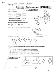 Organic Chem II Spring 2011 Test 2