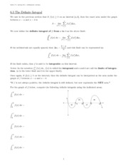 The Definite Integral Notes