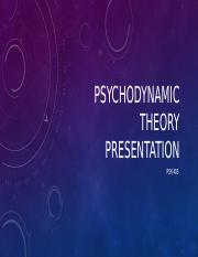 PSY 405 Psychodynamic Theory Presentation
