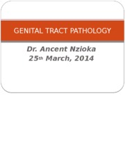 GENITAL TRACT PATHOLOGY.pptx