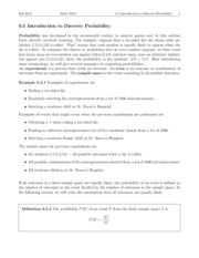 Lecture 6.5 - Introduction to Discrete Probability