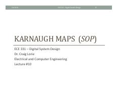 Lecture 10 - Karnaugh Maps (sop)