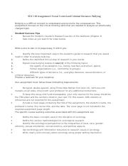 NRS 427  Assignment 2 Social Control and Criminal Deviance Bullying.doc