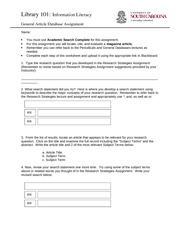 General Article Database Assignment(3)