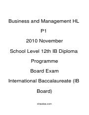 (www.entrance-exam.net)-IB Board-12th IB Diploma Programme Business and Management HL P1 Sample Pape