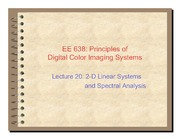 18. 2-D lnear Systems and Spectral Analysis - 2011
