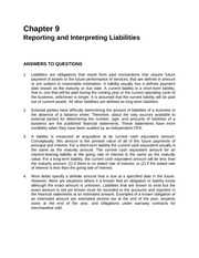 Chapter 9 Reporting and Interprenting Liabilities