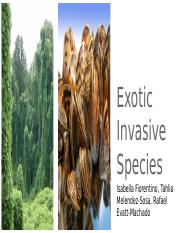 Exotic Invasive Species