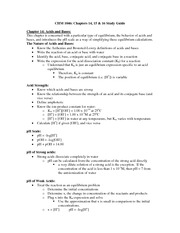 chm1046 Exam 3 Study Guide
