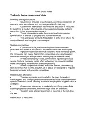 Public Sector notes