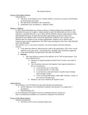 Political Science 1101 Federal Judiciary Notes