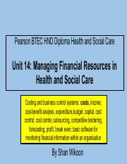 339958142-Lesson-1a-Pearson-BTEC-HND-Diploma-Unit-14-Managing-Financial-Resources-in-Health-and-Soci
