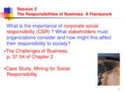ADMS1000 fall 07 slides Lecture2TheResponsibilitiesofBusiness-AFramework