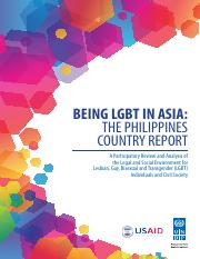 2014 UNDP-USAID Philippines LGBT Country Report - FINAL