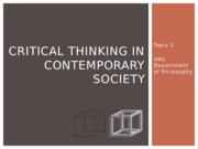 Critical Thinking 2014_15 SEM 2 Lecture 03 Asay