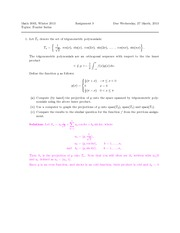 MATH 3003 Assignment 9 Solutions