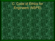 II.b Codes of Ethics
