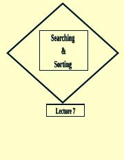 Lecture6_Searching, Sorting, hash.ppt