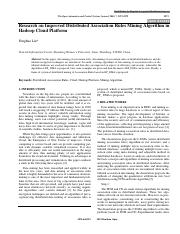Distributed Association Rules Mining Algorithm in hadoop cloud platform.pdf