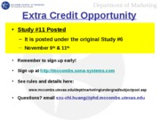 Extra Credit Opportunity 11