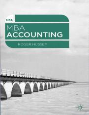 MBA accounting