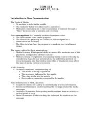 Introduction to Mass Communication Notes