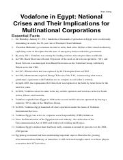 case 3 Vodafone in Egypt: National Crises and Their Implications for Multinational Corporations
