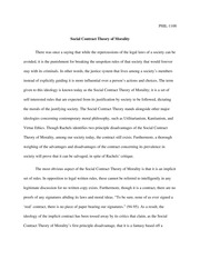 Essay 1 Social Contract Theory of Morality