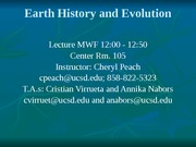 Lecture 8 Oct 12th Plate Tectonics