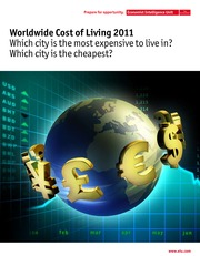 Worldwide Cost of Living 2011 - the economist