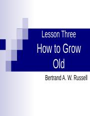how to grow old.ppt