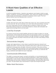 8 Must Have Qualities of an Effective Leader.docx