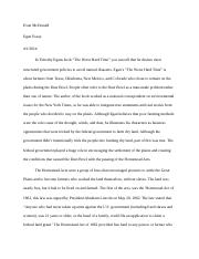 Egan Essay First Draft