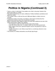 Politics in Nigeria (Cont'd 3